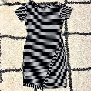 LoveappellaBlack and White T-shirt Dress  Size L